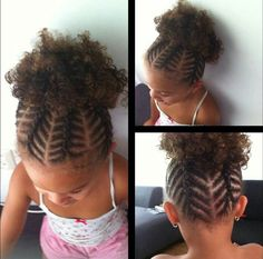 Chevron braids into a puff from chvc facebook pg