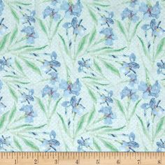 Sweet Siesta Iris Dulce Mint from @fabricdotcom  Designed by Shell Rummel for Blend Fabrics, this cotton print fabric is perfect for quilting, apparel and home decor accents. Colors include shades of mint, blue, purple, and white.