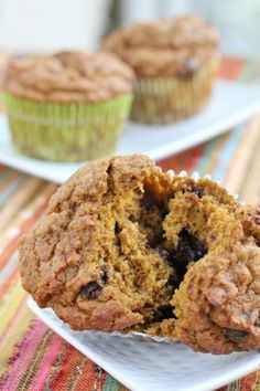 Healthy Girl's Kitchen: Pumpkin Banana Chocolate Chip Muffins of Heaven (vegan, plant-based)