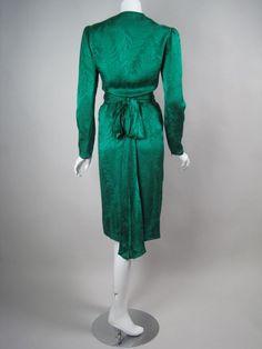 Oscar de la Renta Jacquard Cocktail Dress | From a collection of rare vintage evening dresses at http://www.1stdibs.com/clothing/evening-dresses/
