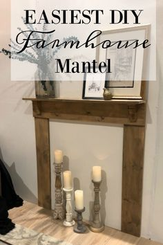 The Easiest DIY Mantel - Seeking Lavendar Lane