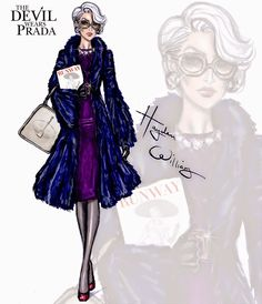 Hayden Williams Fashion Illustrations: The Devil Wears Prada collection by Hayden Williams: Miranda Priestly