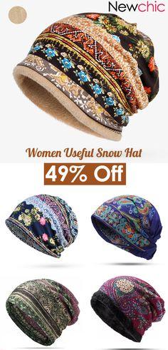 Women Warm Knit Hat Winter Outdoor Cycling Casual Hat Off! Women Warm Knit Hat Winter Outdoor Cycling Casual Hat Record of Knitting Yarn rot. Turbans, Bonnet Crochet, Snow Hat, Cute Beanies, Knit Beanie Hat, Knit Vest, Discount Clothing, Head And Neck, Neck Warmer