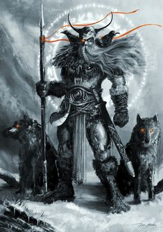 Odin is the overriding presence in the Norwegian myths and legends.