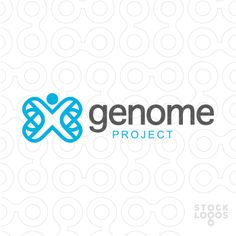 Clean, modern abstract logo design of a person and an abstract DNA/world concept.