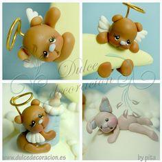 Baby bear / Ositos bebe by Dulce decoración (modelado - tartas decoradas), via Flickr