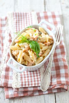 29/05/2016 Dear Belinda this is a delicious pasta with heavy cream, salmon and dill! Enjoy ❤️❤️❤️