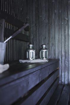 Dark coloured sauna