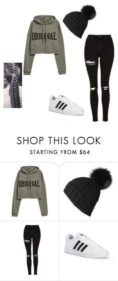 """ORIGINAL"" by keefesencen ❤ liked on Polyvore featuring Black, Topshop and adidas"