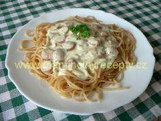 Česnekovo-sýrová omáčka Spaghetti, Pasta, Ethnic Recipes, Food, Meal, Essen, Noodle, Ranch Pasta
