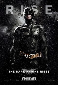 The Dark Knight Rises character poster for Batman himself.