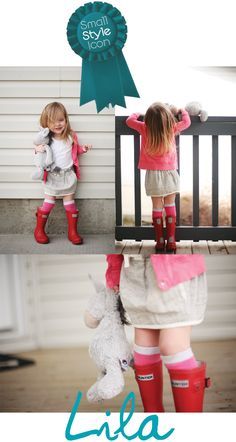 red hunter boots - so cute