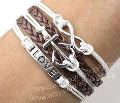 Love Bracelet  ,Anchor Bracelet  ,infinity bracelet --Best Chosen Gift-gift for girl friend,boy friend