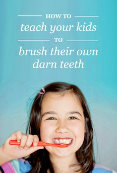 With this guide, you can teach your kids how to do a GREAT job brushing their own teeth--so you don't have to!