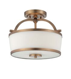 LIGHTING NY - Savoy House Hagen 2 Light Semi-Flush in Heirloom Brass 6-4382-2-178 #lightingnewyork #lny #lighting