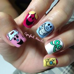 Little Miss and Misters - so cute! Instagram photo by   cynfulnails
