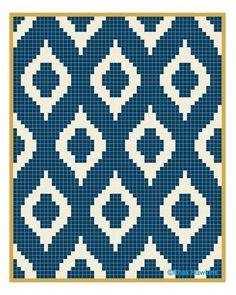 New Ideas Crochet Blanket Sizes Char - Diy Crafts Tapestry Crochet Patterns, Mosaic Patterns, Cross Stitch Pattern Maker, Stitch Patterns, Crochet Chart, Diy Crochet, Crochet Tote, Knitting Charts, Knitting Patterns