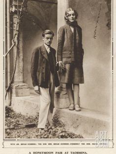 A Photograph of Bryan Guinness and Diana Mitford on their Honeymoon at Taormina