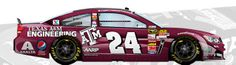 Texas A&M NASCAR custom paint job for Jeff Gordon By cuppycup