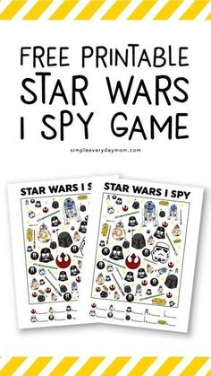 Star Wars Free Printable I Spy   Kids will love this Star Wars themed activity that helps them learn one to one correspondence, focus and more! #starwars #starwarsday #printablesforkids #simpleeverydaymom