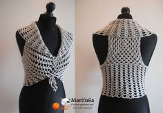 How to crochet vest bolero shrug, Chaleco, for beginners para principiantes free tutorial