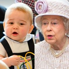 Prince George and The Queen's facial expressions =)