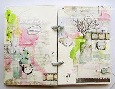 Exquisite journal spread from czekoczyna's Flickr photostream