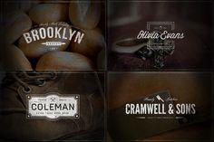 Check out Vintage Logos - Volume 4 by Vintage Design Co. on Creative Market
