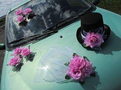 krásná dekorace na svatební auto Tote Bag, Automobile, Totes, Tote Bags