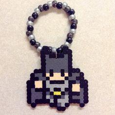 Batman Dark Knight Perler Bead Kandi by PegboardCreations on Etsy, $4.00