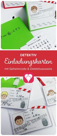 Lade Dir Doch Gleich Deine Vorlage Herunter! Balloonas.com #kindergeburtstag  #motto #mottoparty #party #detektiv #einladung ...