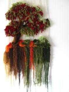 arbol Weaving Art, Tapestry Weaving, Loom Weaving, Textiles Techniques, Three Dimensional, Handicraft, Lana, Macrame, Christmas Wreaths
