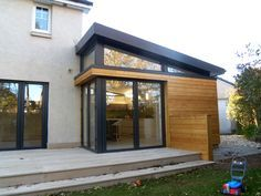 We've tried in the past to explain how the garden room companies can also build striking home extensions and these stunning photos by Aberdeen based Dab Den just prove our point. Porch Extension, House Extension Plans, House Extension Design, Extension Designs, Glass Extension, House Design, Extension Ideas, Side Extension, Bungalow Extensions