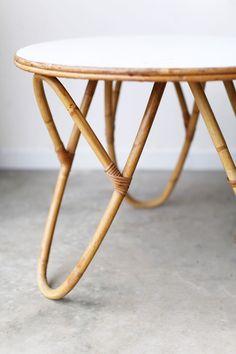 vintage bamboo side table super marche meubles en bambou mobilier de decoration conception