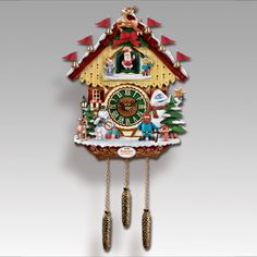 "Do you remember spending magical hour in front of the TV meeting Rudolph®, Clarice®, Hermey®, Sam the Snowman®, and an enchanting island of friends. Now you can relive the excitement you felt with the exclusive ""Rudolph the Red-Nosed Reindeer®"" Cuckoo Clock. This  50th Anniversary collectible tribute is fully functional, expertly sculpted, and overflowing with beloved characters and charming details. Every hour on the hour Santa appears to the tune of ""Rudolph the Red-Nosed Reideer®""!"