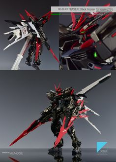 GUNDAM GUY: MG 1/100 Astray Blue Frame D [Black Ver.] - Customized Build
