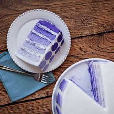 Ombre Layer Cake Ombre layering is a fun way to bring your birthday party color into the cake.  It's easy to make and will impress your party guests!