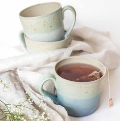 """Handmade Speckled Ceramic Mug   Introducing #Hygge – our favourite new excuse to snuggle under a chunky knit with a cup of cocoa. Pronounced """"hooga"""", this Danish trend is all about embracing cosiness and enjoying the good things in life surrounded by your favourite people. That definitely sounds like something we can get on board with."""