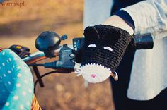 Cats bike hand warmers for KIDS small size bike gloves by warmsy, $29.00