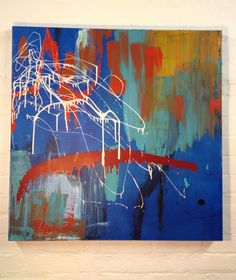 Orton and Ball Abstract expressionism  Acrylic on Canvas  90cmx90cm