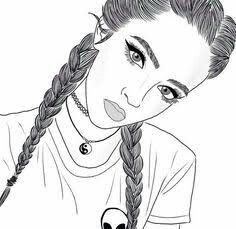 Braids Drawing Sketches French 66 Super Ideas - MY World Tumblr Girl Drawing, Tumblr Sketches, Girl Drawing Sketches, Girly Drawings, Girl Sketch, Tumblr Outline Drawings, Cute Drawings Of Girls, Sketches Of Girls, Drawing Girls