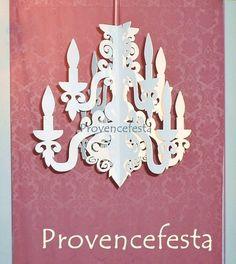 Candelabro 8 Velas em MDF - Provence Festa