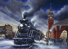 Home for Christmas 1000 piece Cobble Hill Puzzle. Gorgeous train puzzle for a Christmas gift. Christmas Train, Beautiful Christmas, Christmas Home, Vintage Christmas, Christmas Express, Christmas Things, Christmas Greetings, Christmas Christmas, Trains