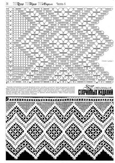 "Photo from album ""Дуплет on Yandex. Crochet Lace Edging, Crochet Borders, Crochet Diagram, Crochet Stitches Patterns, Crochet Art, Crochet Home, Thread Crochet, Irish Crochet, Crochet Designs"