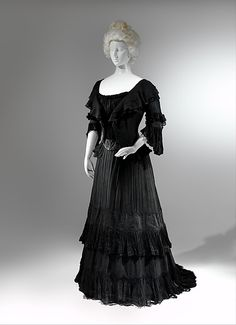 Mourning dress Date: 1902–4 Culture: American Medium: silk Accession Number: 1979.346.93a–c