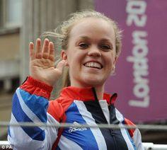 Swimmer Ellie Simmonds waves