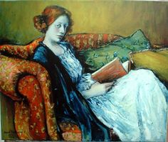 ✉ Biblio Beauties ✉ paintings of women reading letters & books - Anna Trubnikov