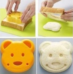 Teddy Bear Sandwich Cutter Mold by TorisPartyKitchen on Etsy $10