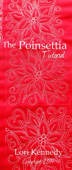 The Poinsettia-A Free Motion Quilt Tutorial - Lori Kennedy Quilts - Ten Christmas and Hanukkah Machine Quilting Motifs! Quilting Stitch Patterns, Machine Quilting Patterns, Quilt Stitching, Longarm Quilting, Free Motion Quilting, Quilting Projects, Quilt Patterns, Quilting Ideas, Quilting Rulers