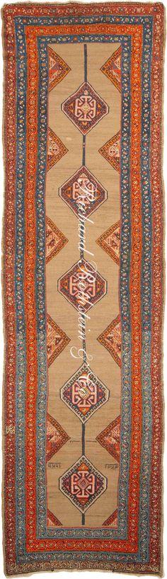 Antique Serab Runner Oriental Rug Antrr839